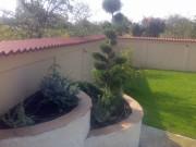 Gard si jardiniere aplicate si hidroizolate, confectionate din caramida