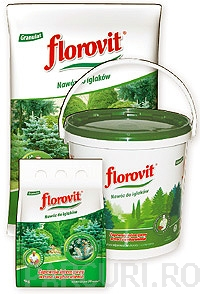 poza Ingrasamint chimic complex Florovit granulat pentru conifere ambalaj 3 kg