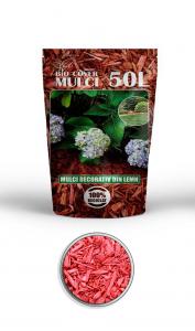 poza Scoarta decorativa de culoare rosie, mulci colorat, saci 50 litri