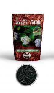 poza Scoarta decorativa de culoare neagra, mulci colorat, saci 50 litri