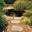 Dale de gradina imitatie de piatra naturala, din beton vibropresat gama BRADSTONE OLD TOWN culoare crem