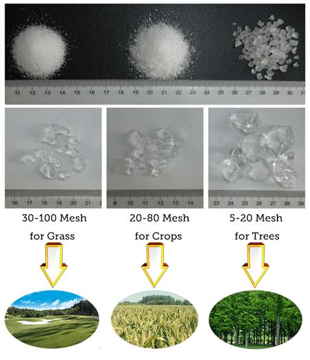 Tipuri de hidrogel agricol sau horticol