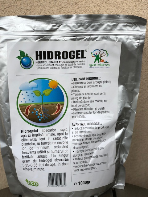 Hidrogel Gardenis pentru horticultura si agricultura