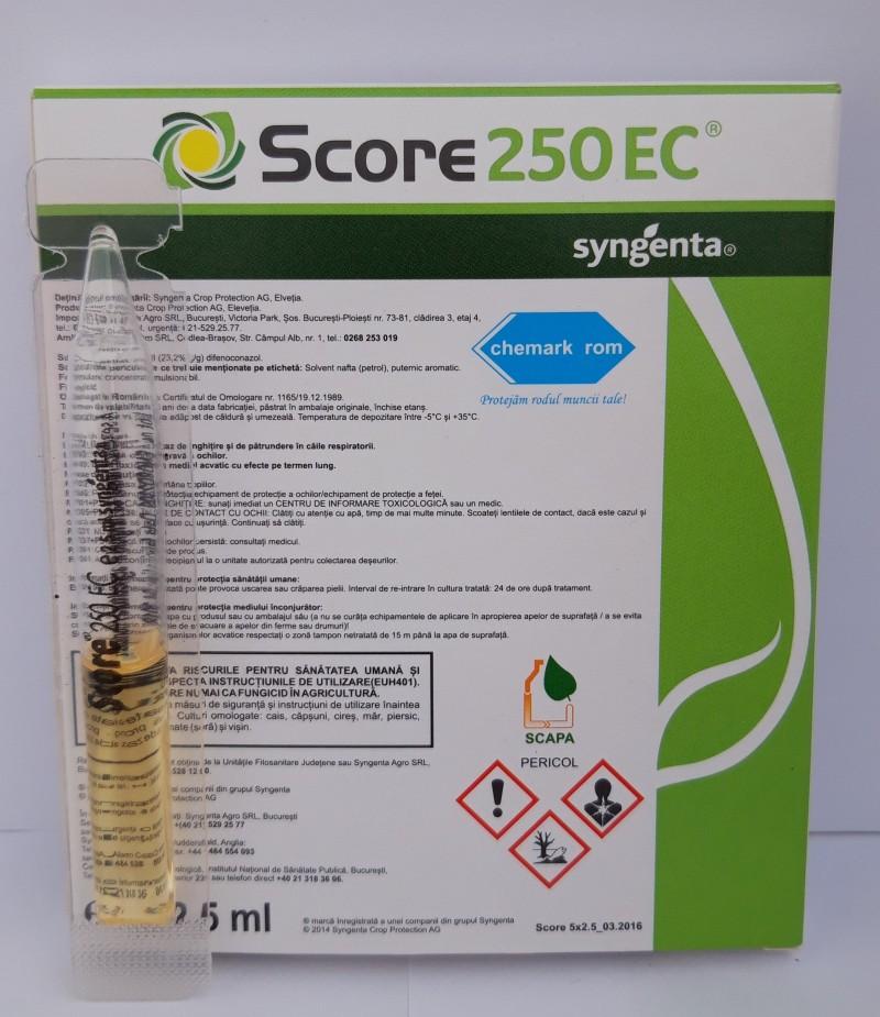 Fungicid SCORE 250 EC, 2,5 ml. Poza 12447