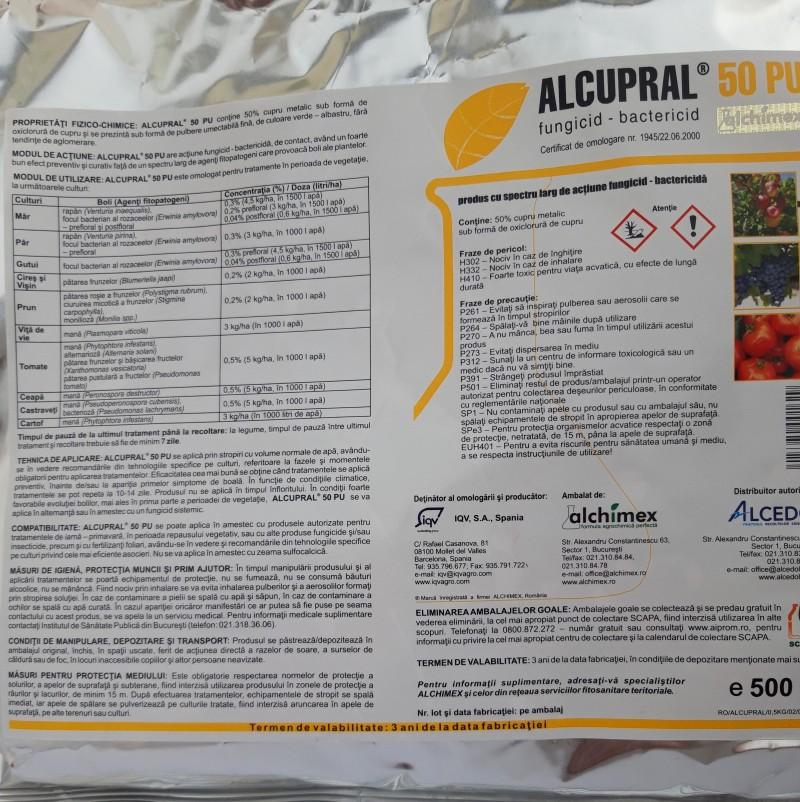 Fungicid ALCUPRAL 50 PU, 500 g. Poza 12448