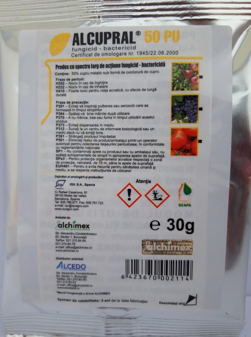 Fungicid ALCUPRAL 50 PU, 30 g. Poza 12449