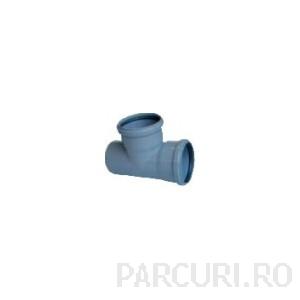 Teu (ramificatie in T) DN 110 pentru drenaje, retele de dren si drenuri de gradina
