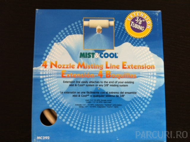 Kit pentru extensie instalatie de racorire prin ceata (perdea de ceata) Mist & Cool