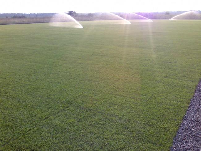 Probe si reglaje la sistemul de drenuri si la sistemul de irigatii ale terenului de fotbal