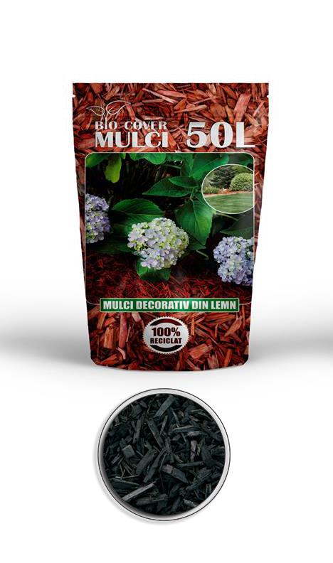 Scoarta decorativa de culoare neagra, mulci colorat, saci 50 litri. Poza 8560