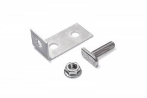 poza Vincluri (L-uri) ancorare profil structura aluminiu (set 15 vincluri + 20 suruburi + 20 piulite)