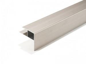 poza Profil aluminiu pentru trepte (tip F) sistem 23mm structura WPC (Naturo/Finelo/Coro/Calmo)
