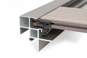 poza Profil aluminiu pentru trepte sistem 23mm structura aluminiu (Naturo/Finelo/Coro/Calmo)