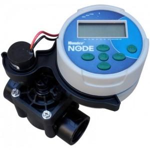 poza Kit programator electronic pe baterie, Hunter NODE cu 1 zona, electrovana inclusa, pentru sisteme de irigatii