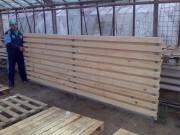 Galerie foto Gard de lemn pe structura metalica
