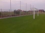 Galerie foto Gard de plasa textile pe structura metalica pentru retinerea mingiei in spatele portii terenurilor de fotbal