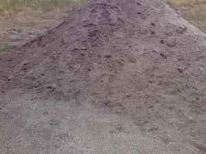 Poza Amestec de nisip spalat cu pamant ferti de padure vegetal pentru insamantare gazon, montaj gazon rulou sau plantari arbori, copaci, pomi, arbusti si flori de gradina.