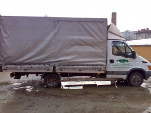 poza Transport resturi vegetale tocate, rezultate din taieri, cu masini de 5 mc