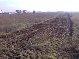 Poza Decopertare terenuri de resturi vegetale, pamant, iarba, buruieni si grupare in vederea incarcarii si evacuarii.si grupare resturi