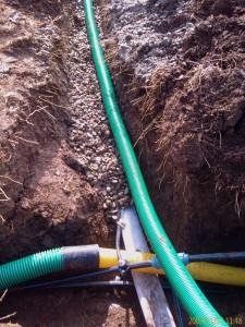 Poza Tuburi de drenare pentru colectarea apelor in sistemele de drenuri si retelele de drenare.