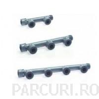 poza Ramificatie (manifold) cu 3 iesiri si garnitura din cauciuc pentru electrovanele de irigatii