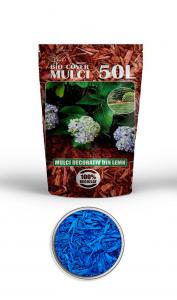 poza Scoarta decorativa de culoare albastra, mulci colorat, saci 50 litri