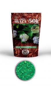 poza Scoarta decorativa de culoare verde, mulci colorat, saci 50 litri